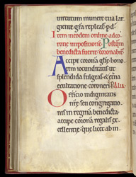 Coronation, in a Pontifical from St Mungo's